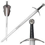 Knights Templar Crusader Sword with Display Plaque