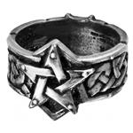Celtic Theurgy Ring Pewter Alchemy R50
