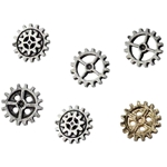 Medium Gearwheel Buttons Pewter Alchemy S10