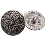 Pewter Round Renaissance Button 107.0904