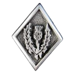Scottish Thistle Pewter Button 107.1044