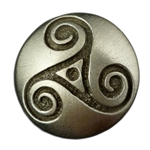 Celtic Triple Spiral Triskele Button 107.1313