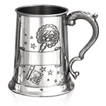 18 Birthday Rolled One Pint Pewter Tankard