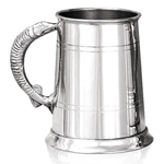 Fish Handle One Pint Pewter Tankard