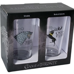 Game of Thrones Pint Glass Set: Stark and Baratheon