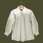 Renaissance Cotton Shirt with Collar White Large GB3029