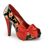 Betty's Bow Detail Peep Toe Pumps