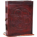 Small Pentagram Leather Blank Book 45-BBBCPEN
