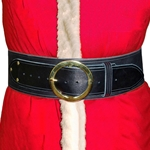 Santa Claus Belt 4 in. Wide Leather Round Buckle