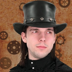 Steampunk Leather Hat