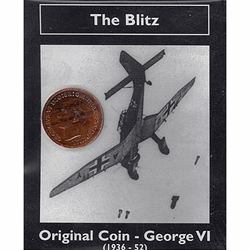 George VI The Blitz Bronze Farthing Original WWII Coin WW2CP-3